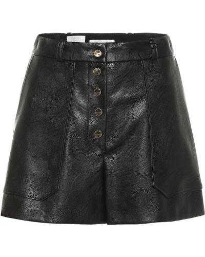 Однобортные черные теплые шорты Stella Mccartney