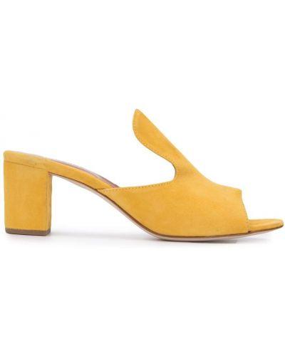Мюли на каблуке желтый Paris Texas