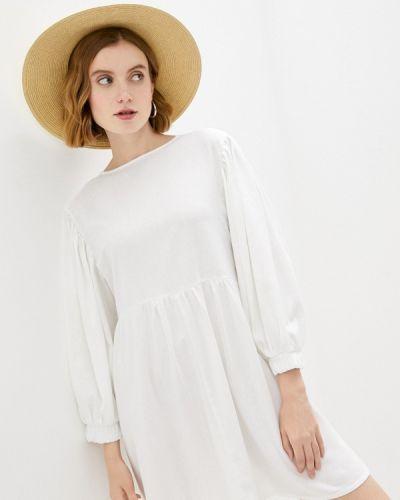 Белое прямое платье Vivostyle