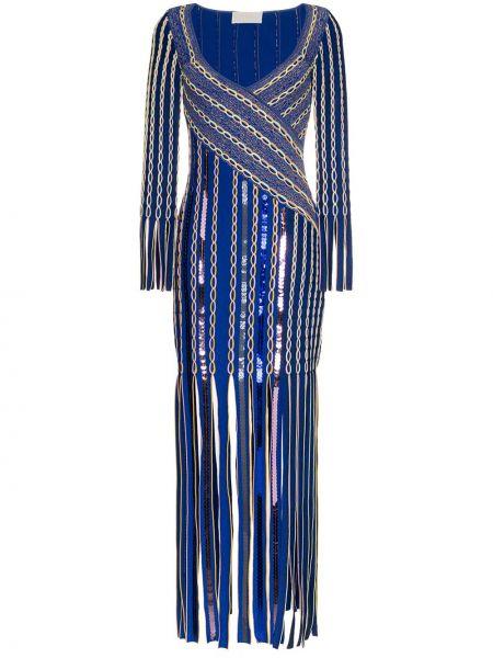 Платье миди с пайетками с запахом Peter Pilotto