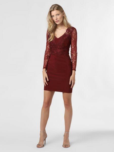 Czerwona sukienka koronkowa Lipsy