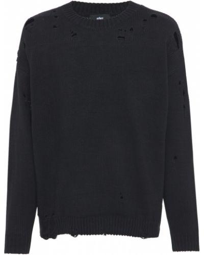 Czarny sweter bawełniany Other