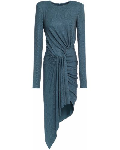 Трикотажное платье мини - синее Alexandre Vauthier