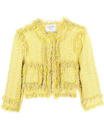 Желтый пиджак твидовый без застежки Lanvin Pre-owned