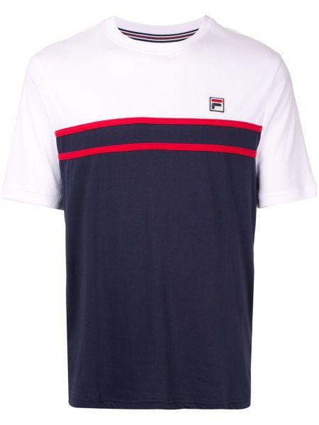 Koszula krótkie z krótkim rękawem z paskami prosto Fila