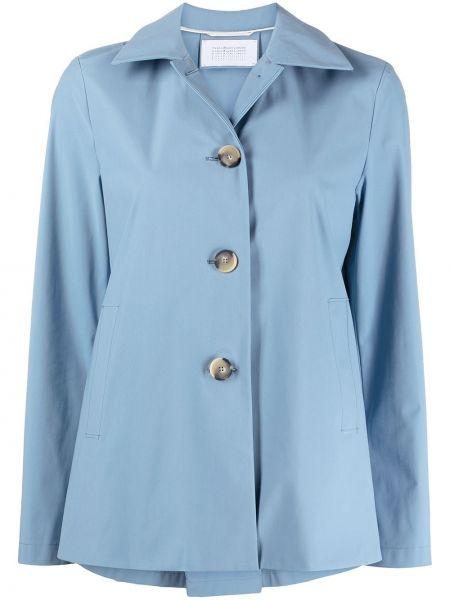 Приталенная синяя куртка на пуговицах Harris Wharf London