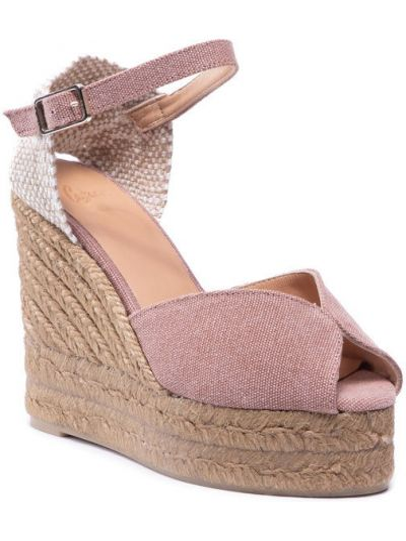 Różowe sandały espadryle Castaner