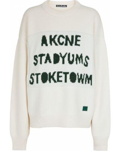 Белый шерстяной свитер Acne Studios