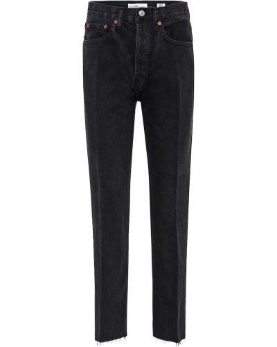 Miejski bawełna czarny bawełna jeansy Re/done