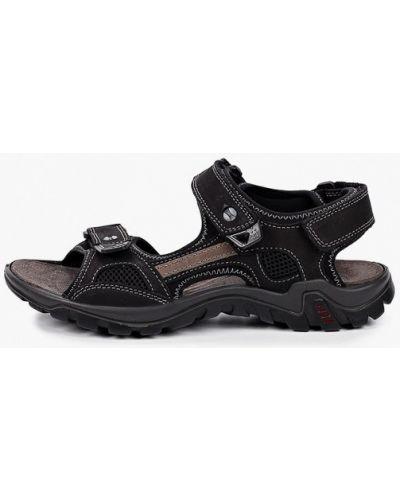 Черные текстильные сандалии Salamander