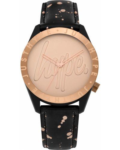 Czarny złoty zegarek Hype
