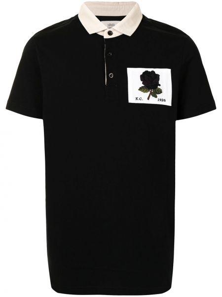 Czarna koszula krótki rękaw bawełniana Kent & Curwen