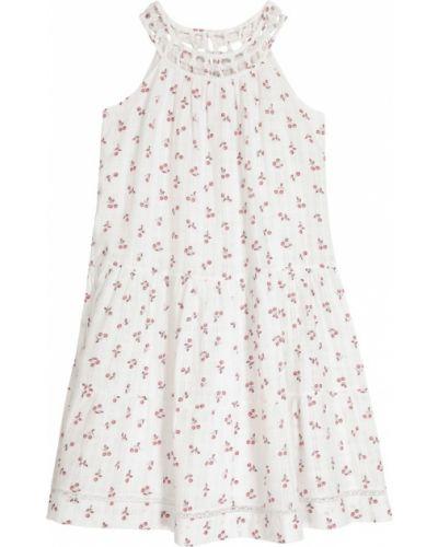 Хлопковое платье - белое Bonpoint