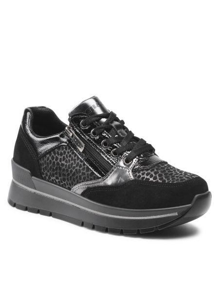 Buty sportowe skorzane - czarne Igi&co