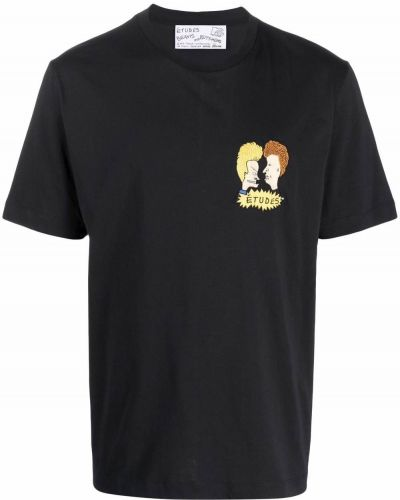 Czarna T-shirt z nadrukiem z printem Etudes