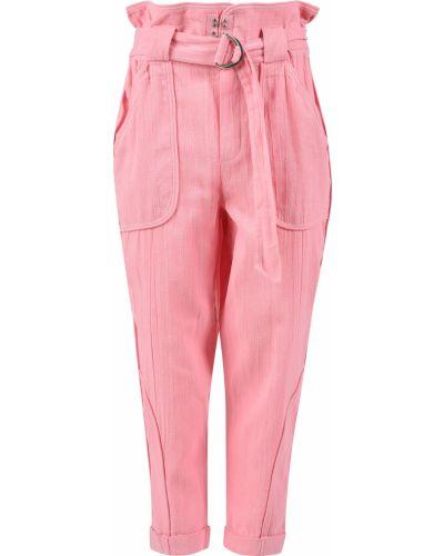 Хлопковые брюки - розовые Iro