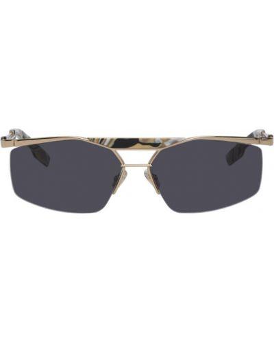 Черные солнцезащитные очки прямоугольные металлические Dior Homme