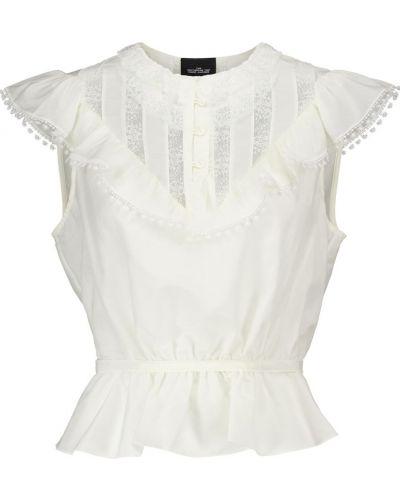 Biały bawełna bawełna bluzka Marc Jacobs