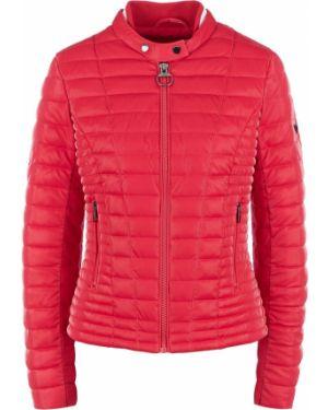 Утепленная куртка розовая на молнии Guess