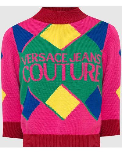 Джинсовый джемпер - розовый Versace Jeans Couture