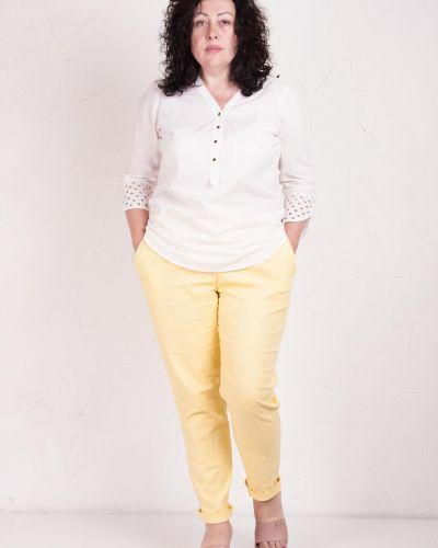 Льняные брюки - желтые Losinelli