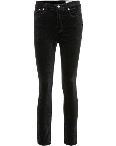 Zawężony bawełna bawełna czarny obcisłe dżinsy Rag & Bone