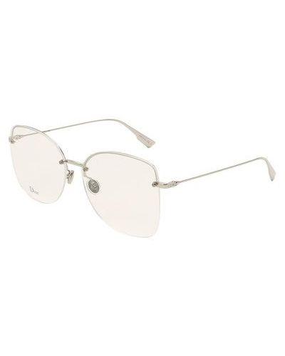 Серебряные очки металлические Dior