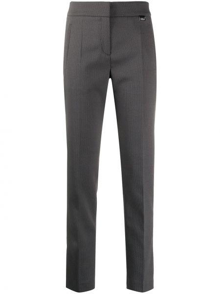 Шерстяные черные брюки узкого кроя с потайной застежкой Boss Hugo Boss