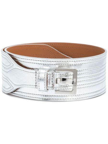 Серебряный ремень металлический с пряжкой с поясом Veronica Beard
