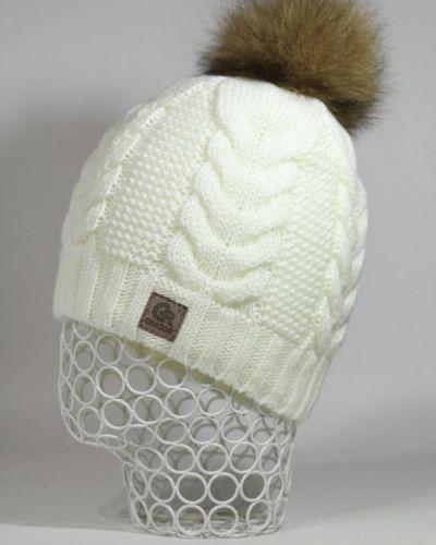 Белая шапка флисовая Grazor