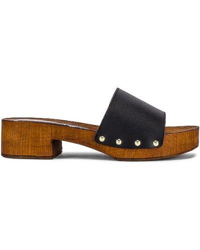 Klasyczne czarne złote sandały Seychelles