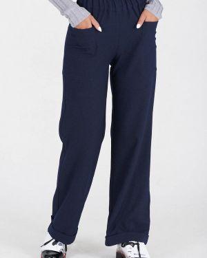 Свободные брюки расклешенные синие Eliseeva Olesya