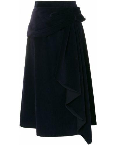 Юбка асимметричная с драпировкой Prada