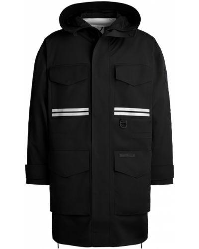 Czarny płaszcz przeciwdeszczowy z nylonu Canada Goose