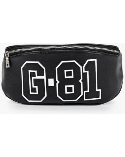 Кожаная черная поясная сумка Guess