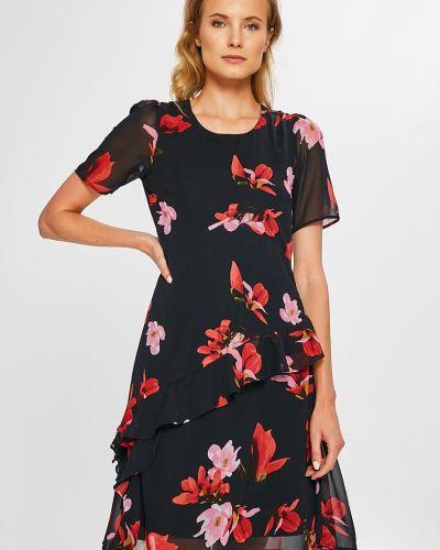 Платье мини с оборками с вырезом Vero Moda