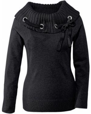 Пуловер в рубчик для офиса Bonprix