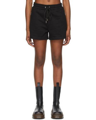 Черные шорты с карманами с вышивкой Dion Lee