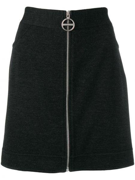 Юбка мини с завышенной талией на молнии Givenchy