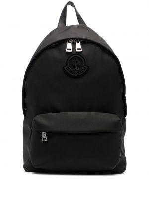 Кожаная черная сумка на плечо на молнии Moncler