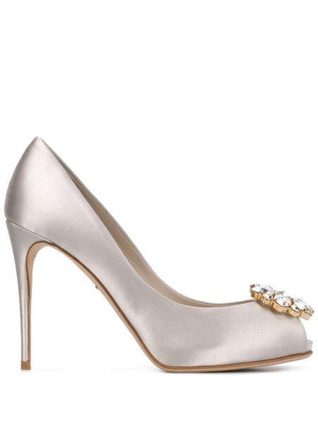Туфли на каблуке на высоком каблуке кожаные Dolce & Gabbana