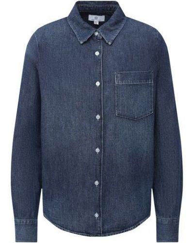 Хлопковая синяя джинсовая рубашка Ag