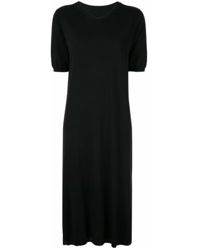 Черное футбольное платье миди на молнии Knott
