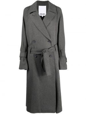 Шерстяное пальто - серое Kenzo