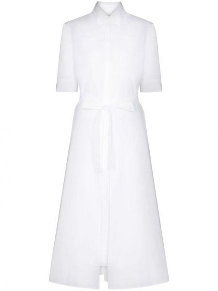 Ватное белое хлопковое платье миди Rosetta Getty