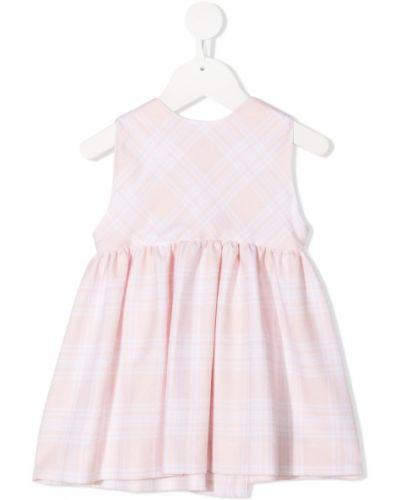 Розовое расклешенное платье на пуговицах без рукавов Siola