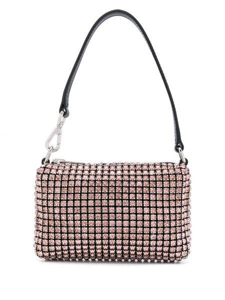 Розовая кожаная маленькая сумка на молнии Alexander Wang