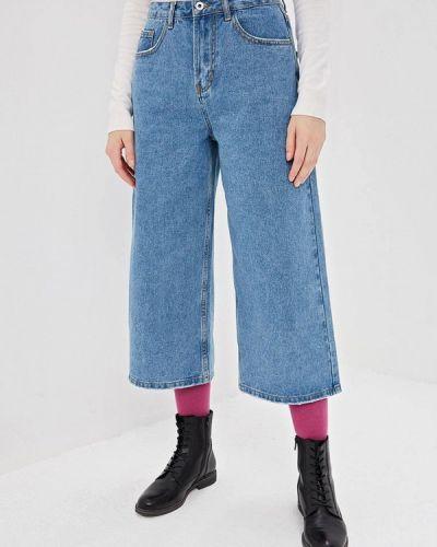 Расклешенные джинсы широкие голубой Befree