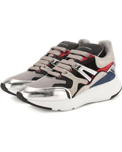 Кроссовки замшевые на шнуровке Alexander Mcqueen