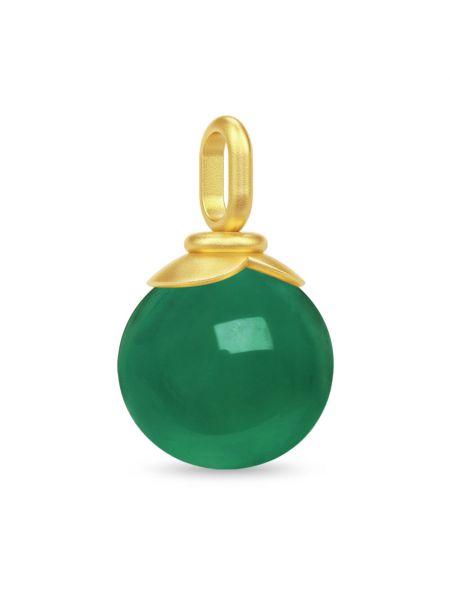 Zielona złota zawieszka Julie Sandlau